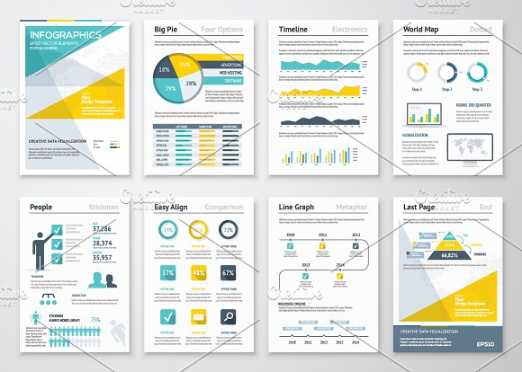 Infographic Brochures Presentation Templates Creative Market - Infographic brochure template