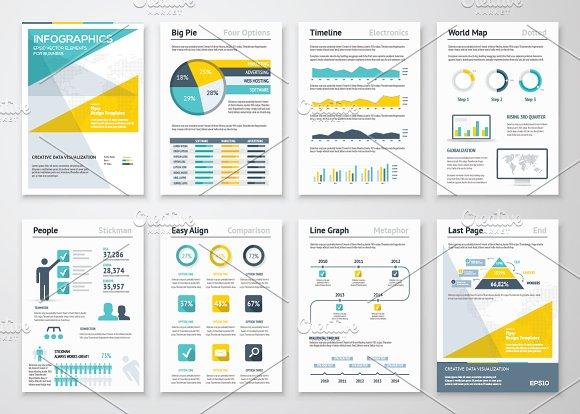 Infographic Brochures Presentation Templates Creative Market - Infographic brochure template