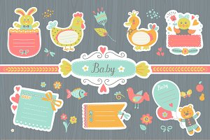 Stickers for baby photo album