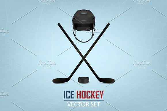 Ice Hockey Illustrations Big Set