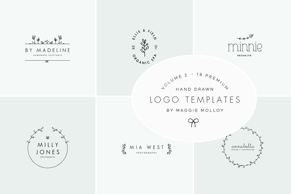 Feminine Premade Logo Bundle Vol. 2