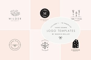 Feminine Premade Logo Bundle Vol. 1