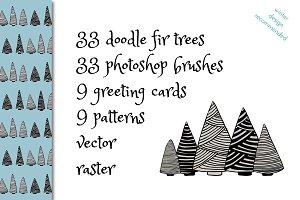 DOODLE FIR TREES