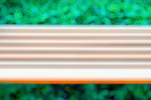 Horizontal motion blur bench background