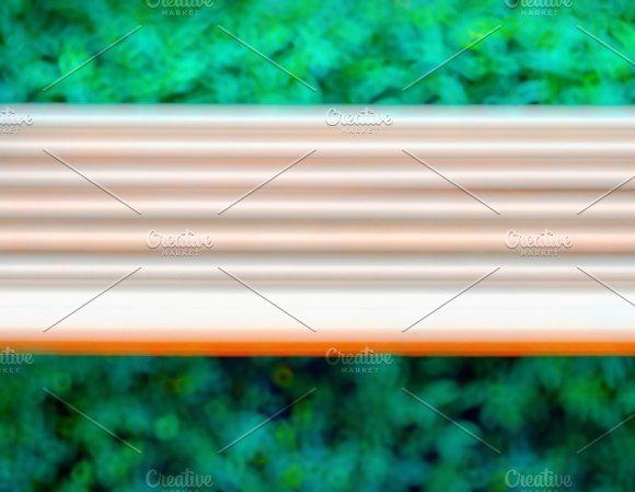 Horizontal Motion Blur Bench Background