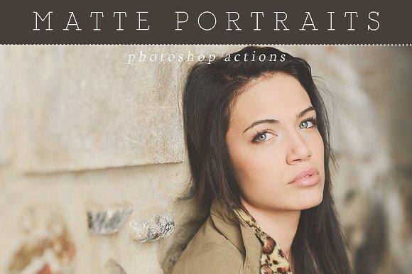 Matte Portrait Photoshop Actions