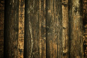 Natural pine wood weathered fence