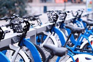 Norway bicycle public yard background