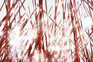 Holiday fireworks illustration background