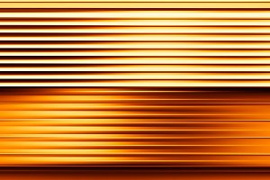 Horizontal motion blur orange panel background