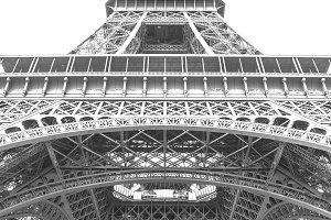 Eiffel Tower BW High Contrast