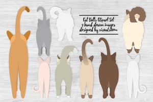 Cat Butts Illustrations
