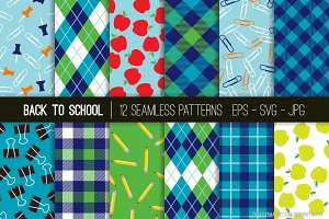 Back To School Vector Patterns