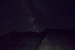 Milky Way Over the Badlands