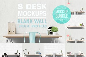 desk mockup bundle