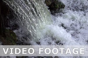 Powerful waterfall in slow motion