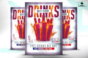 Drinks House Flyer