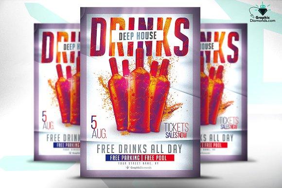 Drinks House Flyer