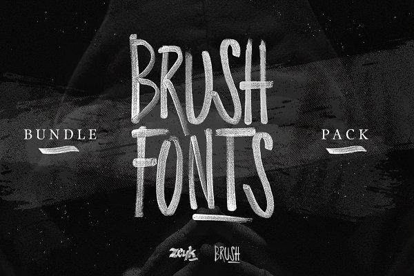 Brush Fonts Pack / Bundle