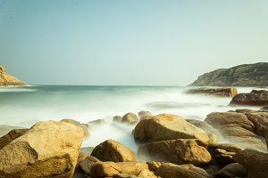 Eternal Wave on a Beach