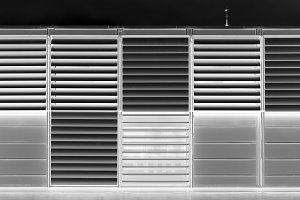 Black and white modern jalousie texture background