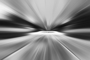 black and white motion blur blast