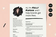 Resume with Photo Template CV Kit