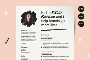 human voiced resume cv kit resume templates creative market