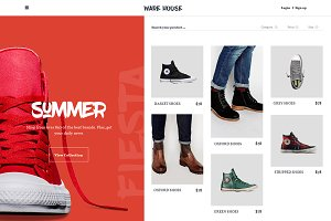 Warehouse PSD eCommerce template