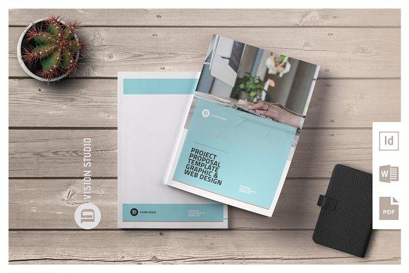 Project Proposal Template 009 Brochure Templates Creative Market