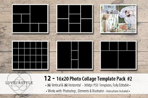 16x20 Photo Template Pack 2