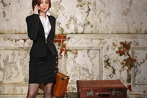 Business woman going on trip