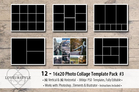 16x20 Photo Template Pack 3