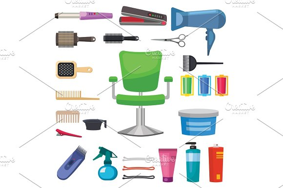 Fashion Hairdresser With Hair Clipper And Hairbrush Isolated Professional Stylish Barber Tools For Cutting Vector Illustration