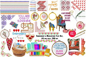 Embroidery & Needlepoint ClipArt
