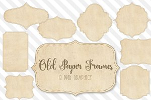 Old Paper Frames Clipart