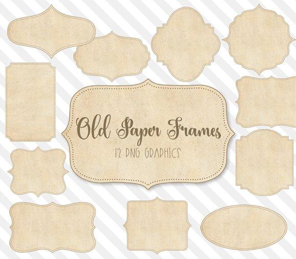 Old Paper Frames Clipart