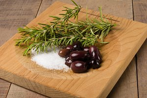 Kalamata olives with rosemary