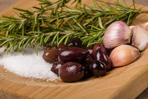 Olives shallots ands rosemary