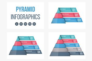 Pyramid Diagrams Set