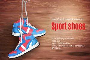 Sport Shoes Realistic Set