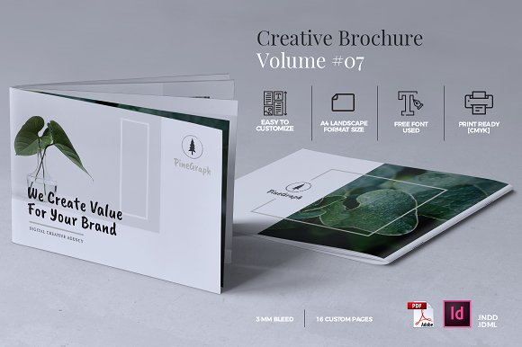 Creative Brochure Template Vol Brochure Templates Creative - Custom brochure templates