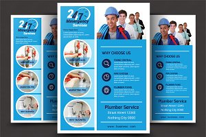 Plumber Service Flyer Templates