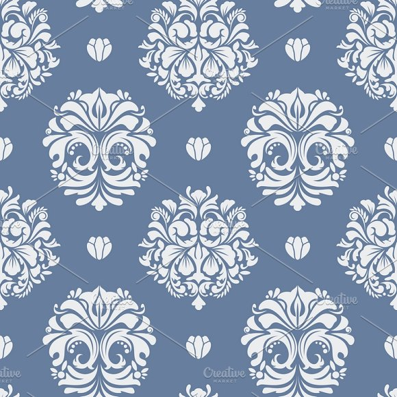 Seamless Pattern Decorative Vintage