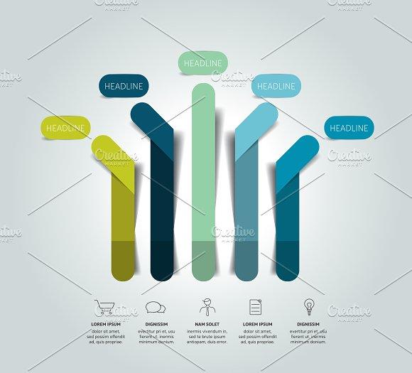 Arrow Infographic Scheme Flowchart