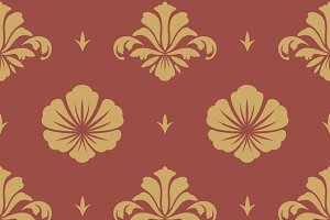 Floral seamless pattern ornament