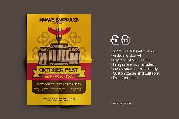Oktober Fest Flyer Poster 01