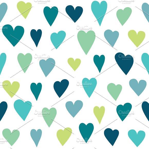 Stylized Heart Seamless Pattern