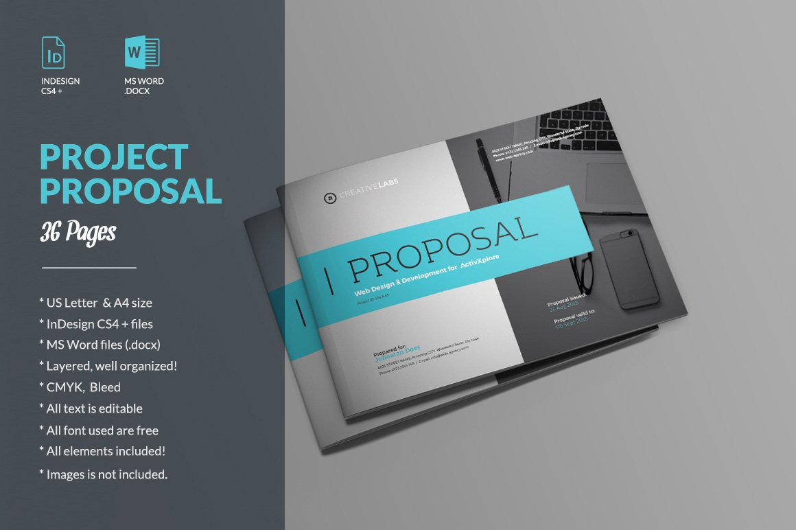Proposal brochure templates creative market wajeb