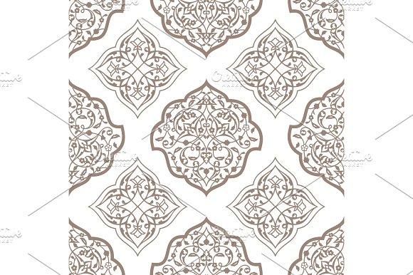 Oriental Seamless Pattern Of Mandalas